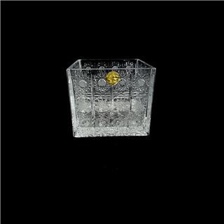 Lọ hoa pha lê mài hình vuông 89906/57/120 sang trọng