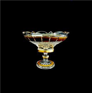 Đĩa pha lê mạ vàng đắp nổi 30.5cm
