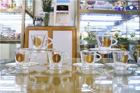 Bộ ly trà pha lê 80ml