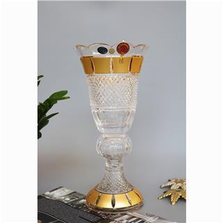 Lọ hoa pha lê mạ vàng 82707/12Z75/355