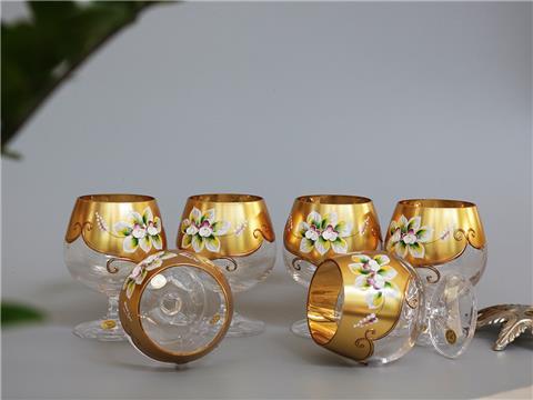 Ly pha lê mạ vàng 250ml