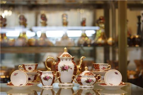 Bộ bình trà sứ đẹp từ Tiệp FR MS 12 CL CE