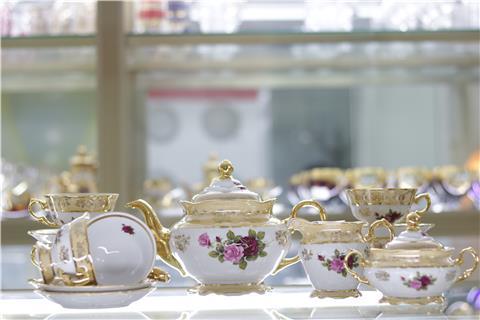 Bộ bình trà sứ nhập khẩu FR CS HL CECEBIS