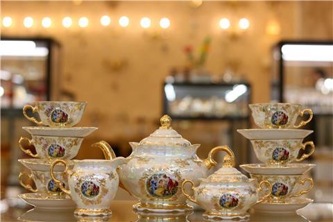 Bộ ấm trà sứ cao cấp FR CS L GR