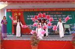 Lãnh đạo huyện đi thăm, chúc mừng ngày Nhà giáo Việt Nam 20/11 tại một số trường học trong huyện