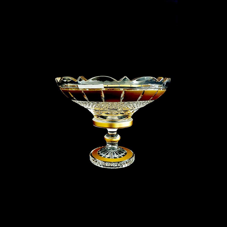 Ảnh minh họa Đĩa pha lê mạ vàng đắp nổi 30.5cm