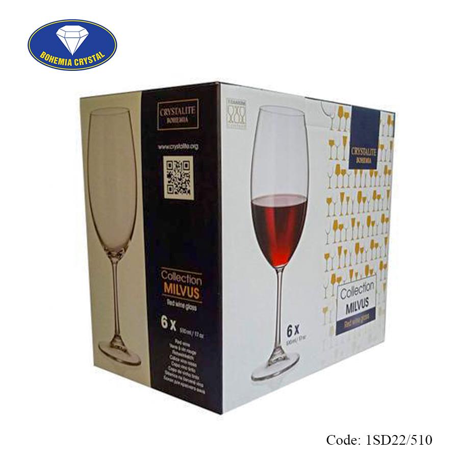 Ảnh minh họa Ly uống rượu vang đỏ Milvus Red Wine 510ml