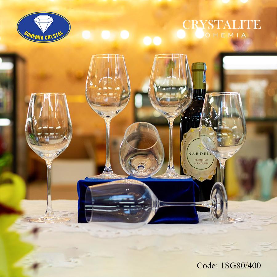 Ảnh minh họa Ly uống rượu vang trắng Columba White Wine 400ml