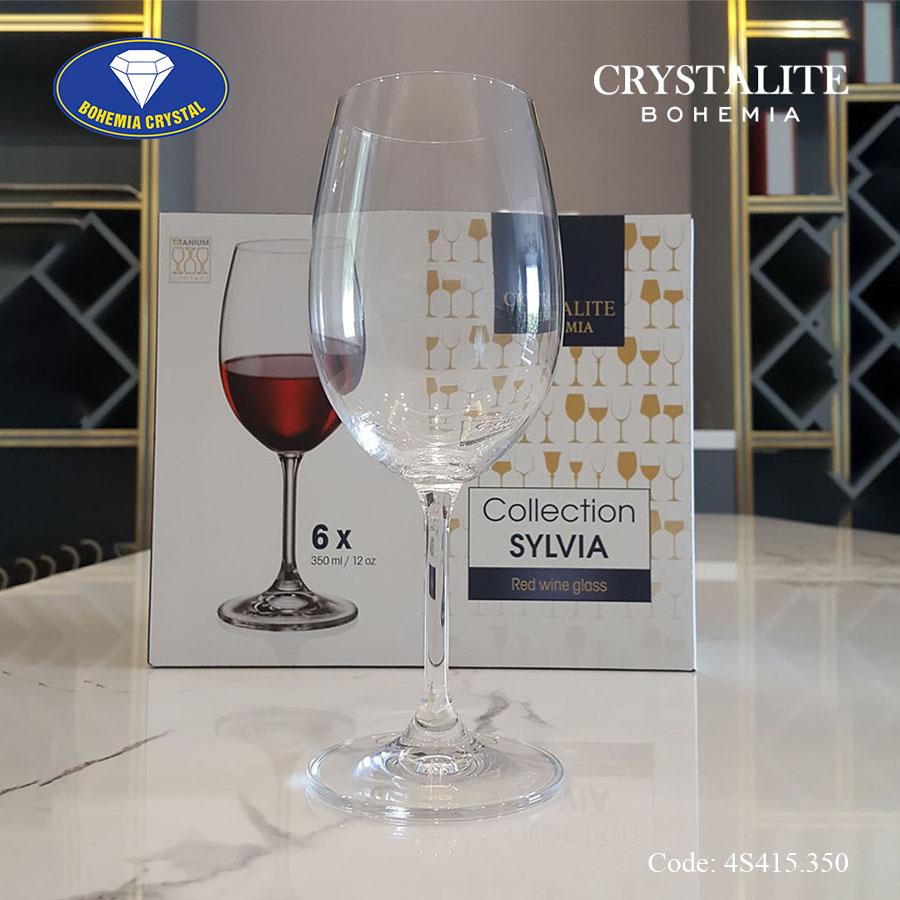 Ảnh minh họa Ly uống rượu vang trắng Sylvia White Wine 350ml