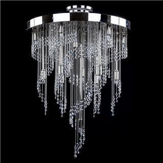 Bộ sưu tập đèn chùm pha lê trang trí phòng khách hiện đại