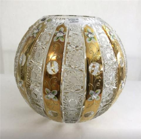 Nơi bán bình hoa pha lê mạ vàng đắp nổi chất lượng, đa dạng