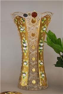Lọ hoa pha lê mạ vàng 41cm
