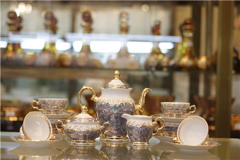 Bộ bình trà sứ màu xanh lam FR/MS/LM11