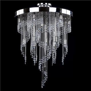 Kinh nghiệm chọn đèn chùm pha lê phòng khách theo từng phong cách kiến trúc