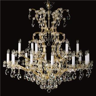 Mẫu đèn pha lê trang trí phòng khách theo phong cách cổ điển