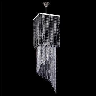 Gợi ý những mẫu đèn pha lê thông tầng hiện đại tuyệt đẹp