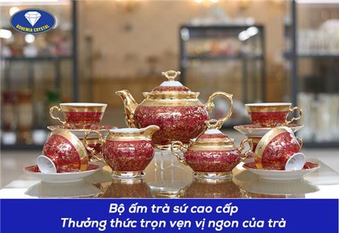 Bộ ấm trà sứ Tiệp - Lựa chọn tinh tế trong thưởng thức trà