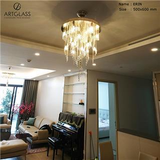 Sử dụng đèn thả pha lê cho phòng khách cần lưu ý gì?