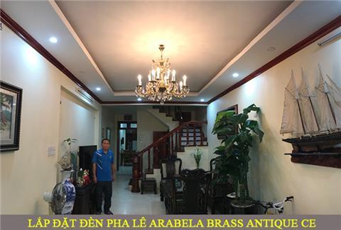 Dự án lắp đặt đèn pha lê Arabela Brass Antique CE